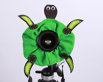 Shutter Buddies Toby TURTLE with SQUEAKER camera lens buddy- Ready to ship
