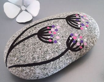 """Dandelions"" hand painted Pebble"