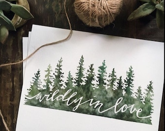 Wildly in Love Watercolor Giclee Print