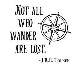 Download - Not all who wander are lost Digital File