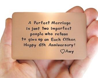 Anniversary, Copper Love Card, Rustic Copper, Cool Boyfriend Gift, Romantic, Personalized Gift