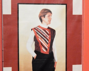 Panel Play Vest wearable art pattern from Lorraine Torrence Designs Uncut Sizes extra small, small, medium, large and extra large