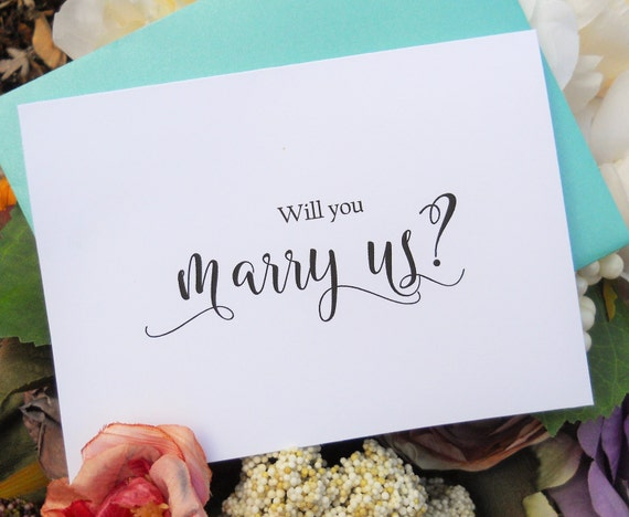 Wedding Officiant Gift Ideas: WILL You MARRY US Card Officiant Card Will You Be My
