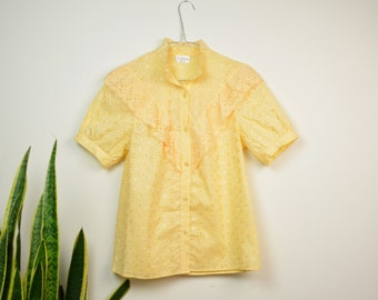 Light Yellow Wester Blouse