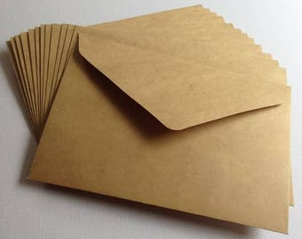 C6 114mm x 162mm Kraft Brown Envelopes Recycled Brown Craft Card Making