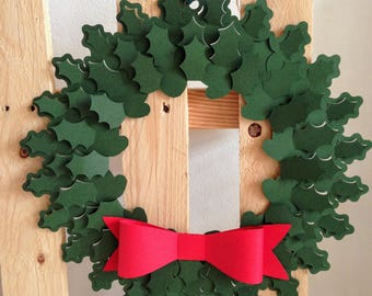 Holly Christmas Garland in paper