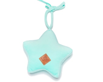 Star Rattle - soft rattle, star rattle, soft toy, rattle for a child - Mint