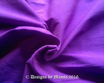 Neon Purple Art Silk Dupioni Fabric By Yard, Purple Silk Fabric, Violet Indian Art Silk Fabric, Art Silk Curtain Fabric, Purple Dupion Silk