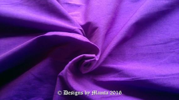 Neon Purple Art Silk Dupioni Fabric By Yard Violet Indian Curtain Dupion From RaajMa On
