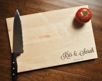 Personalized Cutting Board - Engraved Cutting Board, Custom Cutting Board, Wedding Gift, Housewarming Gift, Anniversary Gift, Engagement