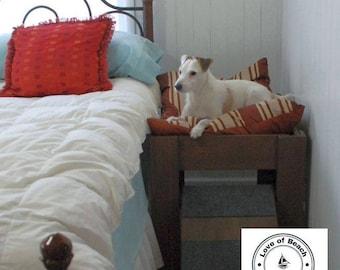 Wood Raised Dog Bed, Elevated Dog Bed, Dog Bed Platform, Pet Furniture, Wood Pet Bed Wood Dog Bed Window
