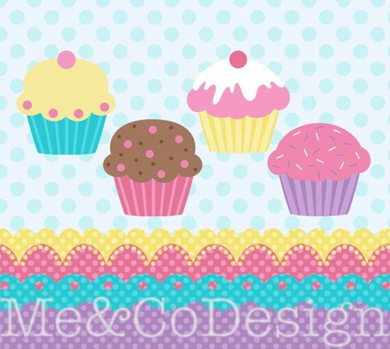 Cupcakes Clipart Cupcake And Borders Clipart Fun Baking