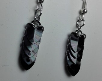 Earrings Mini Scales Black