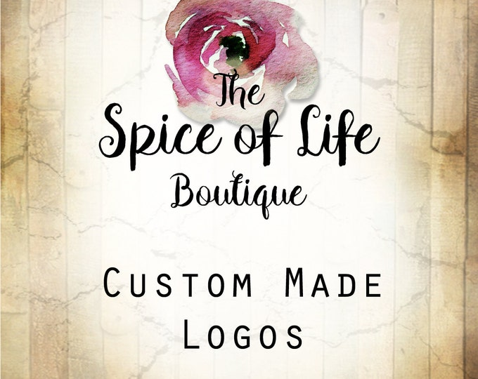 LOGO in SPICE Rose•Premade Logo•Jewelry Card Logo•Flower Logo•Custom Logo•Shop Logo