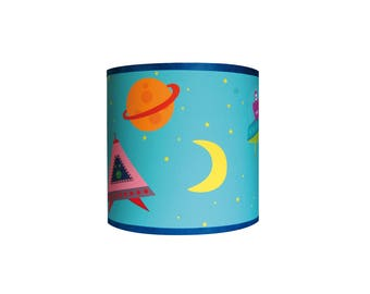 """Child lamp Applique boy """"in space 2"""""""