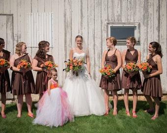 Chocolate Brown Bridesmaids Dress ... XS-5XL... Infinity Convertible Dress,  Wedding Dress, Bohemian Dress,  Maternity Dress