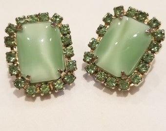 Mint Green Clip-on Earrings
