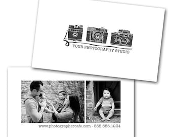 Creative Type Business Card - Photoshop template downloads by Photographer Cafe