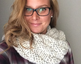INFINITY scarf - hand knit - Ready to Ship