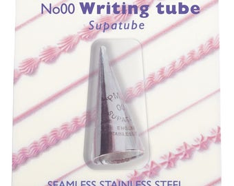 PME Supatube No. 00 Icing, Writing, Piping Tip, cake & cookie decorating