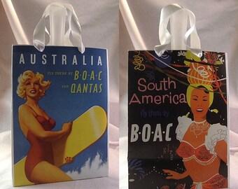 Vintage Travel Poster Calendar Paper Gift Bag