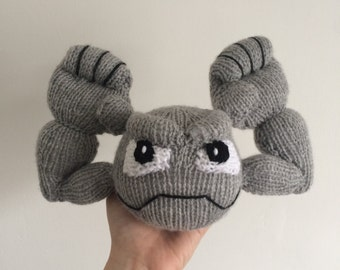 Geodude knitting pattern pokemon pattern knit knitted plushie toy amigurumi