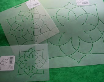 """Quilt Stencil, Follow Your Dreams 4"""", 6"""", or 10"""" Classic Quilting Pattern, Floral Motif, Embroidery, Machine Quilting Template"""