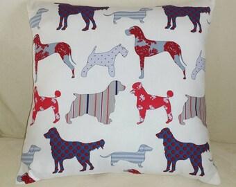 Seaside Dogs Print Cushion Decorative Pillow