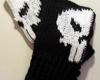 Marvel Punisher Fingerless Gloves Wrist Warmers