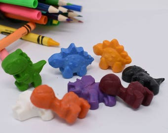 Dinosaur Crayons - Set of 8 - Stocking Stuffer - Recycled Crayons - Dinosaurs - Dinosaur Party - Kids Birthday - Party Favor-Birthday Favor