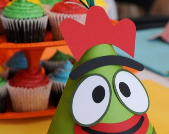 Yo Gabba Gabba Brobee Inspired Party Hats