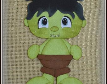 Hulk Super Hero Avenders Premade Scrapbooking Embellishment Paper Piecing