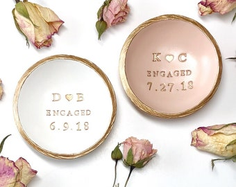 Engagement Ring Dish / Engagement Gift / Personalized Jewelry Dish / Engagement Jewelry Dish / Personalized Ring Dish / Gifts For Couple