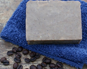 Organic Coffee Soap, Handmade Vegan Gluten Free Coffee Bean Soap, Gift for Coffee Lover, Natural Coffee Essential Oil Soap, Coffee Craving