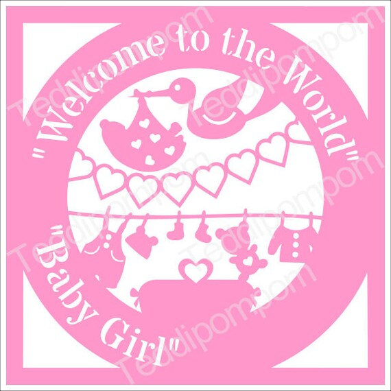 New baby svg, Birth Announcement template, baby girl svg, ,baby ...