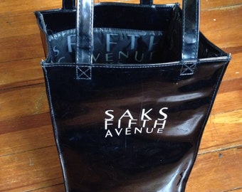 90's Saks Fifth Avenue Small black Tote Bag