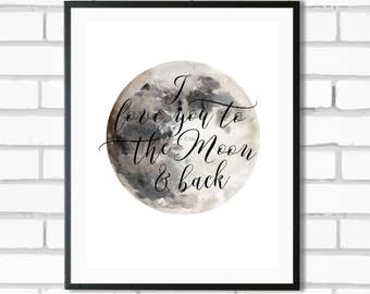 Love to the Moon - Digital Print