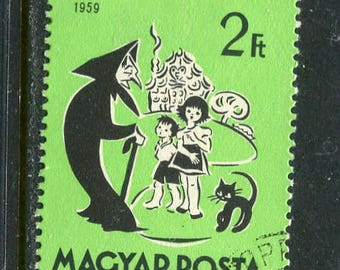 Hansel And Gretal Fairy Tail Themed Stamp Issued in Hungary Used/Vintage Stamp Hansel & Gretal