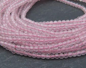 "AAA Rose Quartz Faceted Rondelles 2mm ~ 13"" Strand"