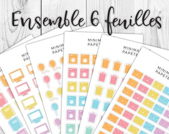 Set of stickers • envelope household corpse • • • • • • • • cute • functional Planner Stickers monthly calendar