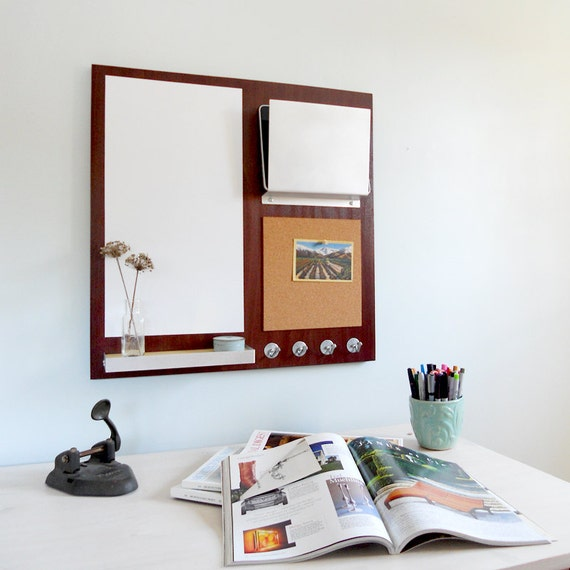 MESSAGE CENTER: Cork Board Magnetic White Board Office