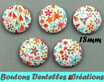 Buttons covered with Liberty - Eve C - 18mm