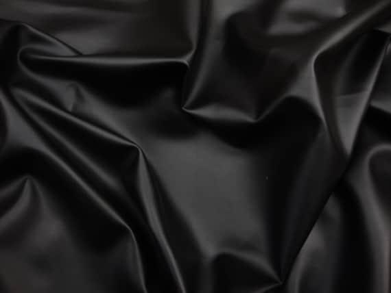 Vinyl Faux Leather Black Soft Skin Clothing / Upholstery PVC