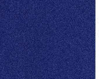 Royal Blue Glitter Card A4 soft touch low shed 1 sheet