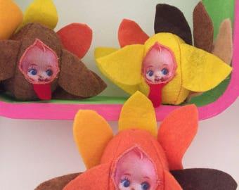 Kewpies de Turquie miniature! Ensemble de trois!