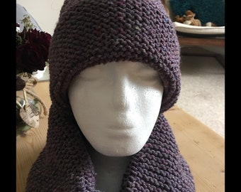 Chunky hat and matching snood