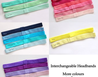 More Colours PICK 3 ~  Interchangeable Headbands infant interchangeable headband