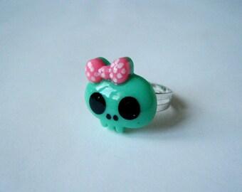 Ring - Skull - light green