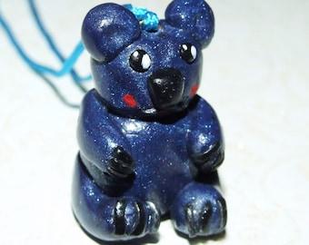 Kawaii bear polymer necklace