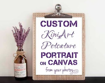 Custom Canvas PAINTING XL KiniArt Pet Portrait Art